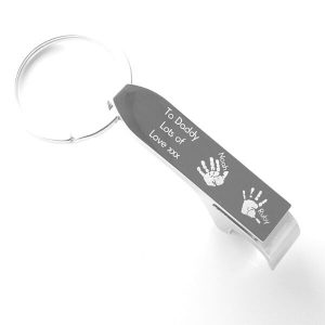 Engraved bottle opener keyring